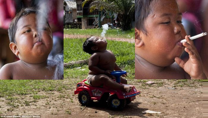 Remember The Smoking Toddler? Here Is What Happened To Him [PHOTOS]