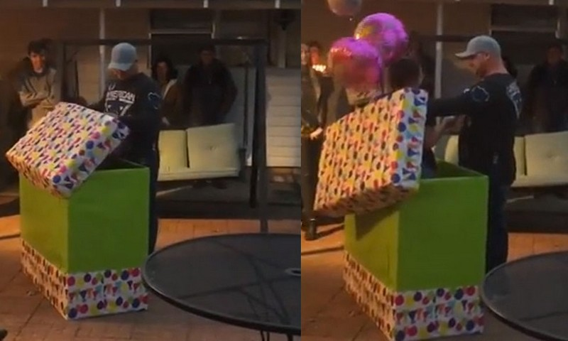 Why man burst into tears when he opened giant birthday gift box – [video]