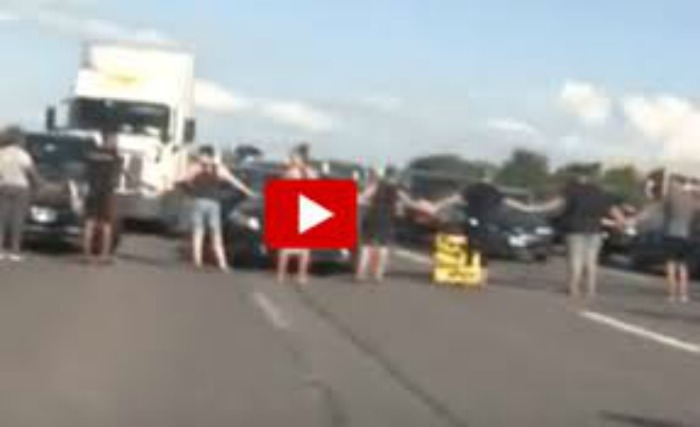 Black Lives Matter Heathen Tries to Block Road, Instantly Pays the Price [WATCH]