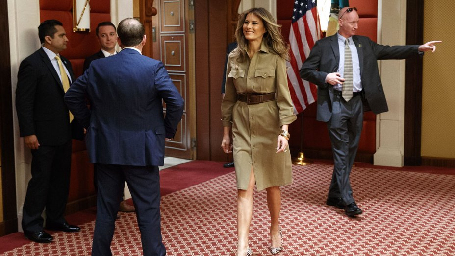 Melania's Middle East Wardrobe May Have Hidden Message