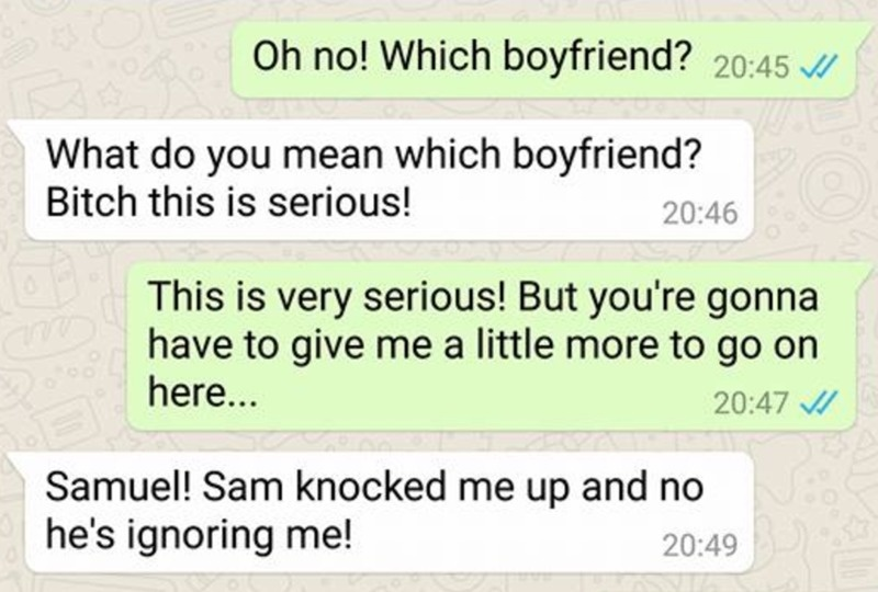 Mans Pregnant Mistress, Texts The WRONG Person [PHOTOS]