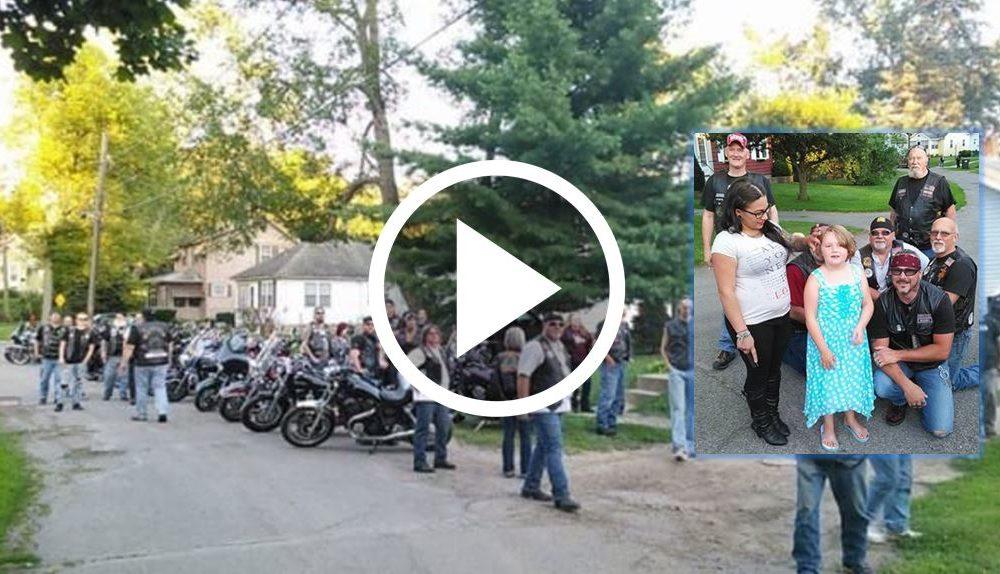 7yo Girl Bullied For A Year, Then These Bikers Show Up To Protect Her