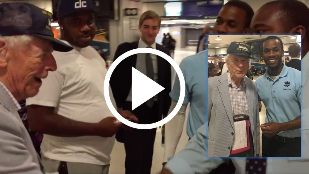 Amtrak Worker Can't Believe Eyes When He Sees Elderly Vet's Hat. What He Does Next Is Going Viral [WATCH]