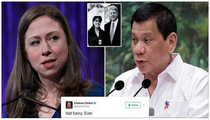 """Philippines President Calls Chelsea Clinton A """"Whore"""" After She Criticizes Joke"""