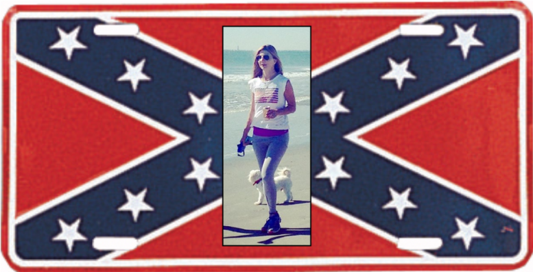 Woman Rips Confederate Flag License Off Vehicle: Then Runs Over the Owner [VIDEO]