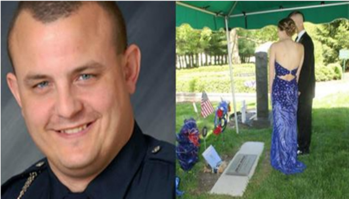 Fallen Officer's Daughter Request Prom Pictures At Dad's Grave, Then She Turns Around For Beautiful Surprise