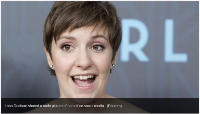 Liberal Skank Lena Dunham Shares Entirely Nude Photo Of Herself To Promote Acceptance