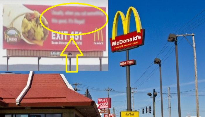McDonald's Corporation Is Unhappy With Billboard; Do You Agree With Them?