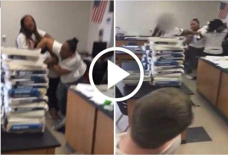 Georgia Classroom Brawl Between Teacher and Aide Caught On Video