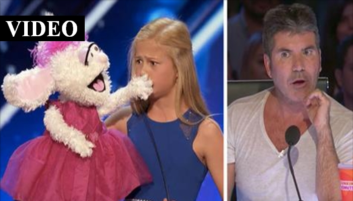 12yo Ventriloquist Was Shy, But When The Puppet Begins To Sing Simon Is Blown Away