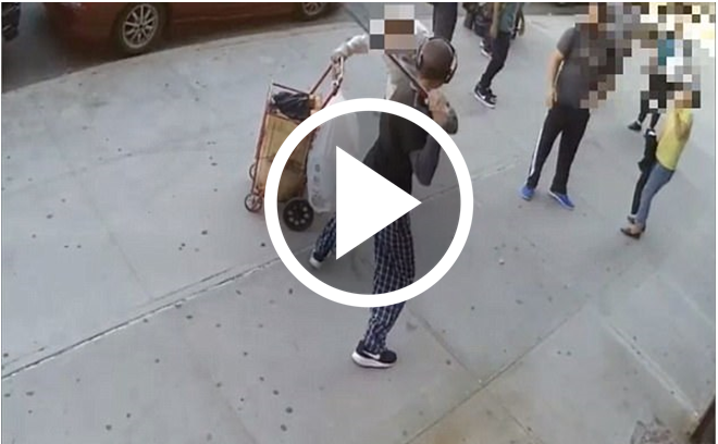 90yo Man Violently Beaten Over The Head In An Unprovoked Attack [RAW VIDEO]