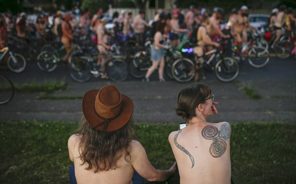 Nude Cyclists Take Over Streets in Portland