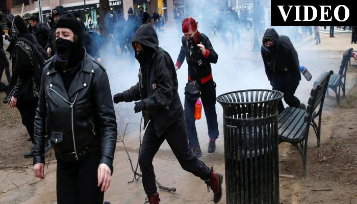 Police Attacked, 14 Arrested As Antifa And Pro-Trump Marchers Clash In Portland
