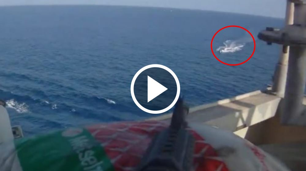 Somali Pirates Try Sneaking Up To Boat… Then An Artillery Surprise Rains Down [VIDEO]