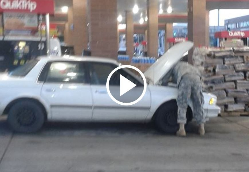 Search Goes Viral For A Soldier W/ 'Junk Car' In Photo. Then God Tells Her Husband Where To Find Him [WATCH]