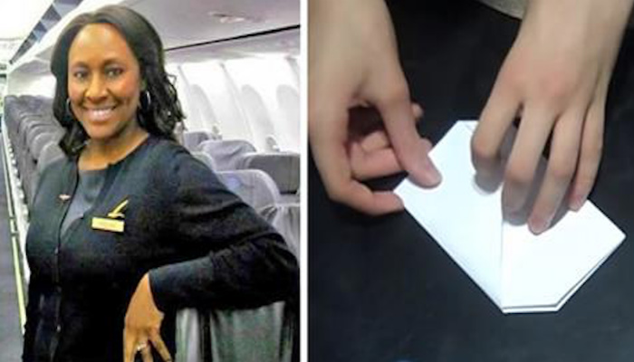 Flight Attendant Writes Simple Note To Teen Passenger, Little Did She Know It Would Save Her Life
