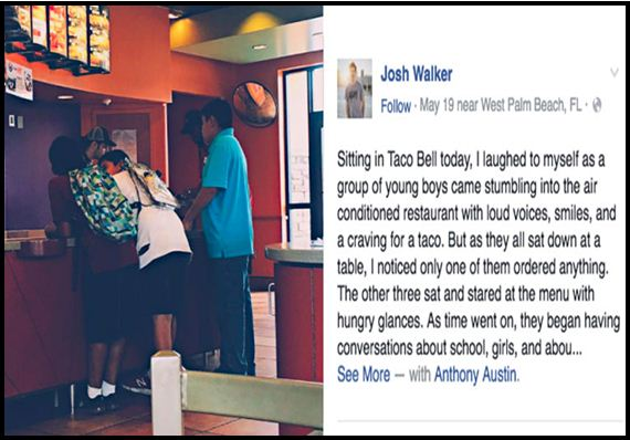 These Rowdy Teens Stumble Into Taco Bell, As He Approached Them He Became Heartbroken