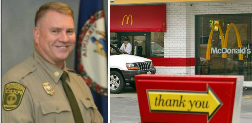 Officer Goes Through McDonald's Drive-Thru During Shift, Then Things Take A Disgusting Turn