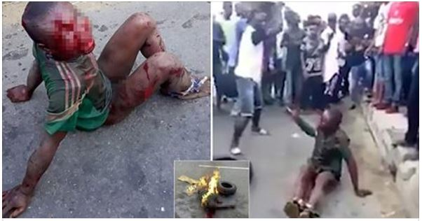 Ruthless Mob Beat A Child Then Set Him On Fire [VIDEO]