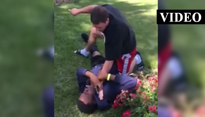 """""""I Could F****** Kill You!"""" Cop Pins Teen Down, Chokes Him For Running Through His Grass"""