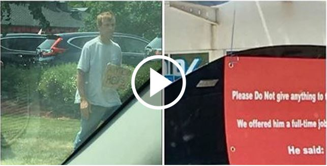 A beggar Who Turned Down A Full Time Job Offer Sparks A Debate On Social Media [VIDEO]