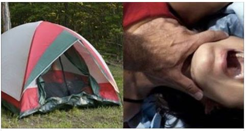 Man Invades Couple's Tent, Makes Boyfriend Watch What He Does To His Girl