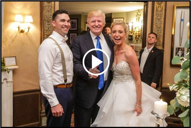 President Trump Astounds Wedding Party, Crashing Reception And Dancing With Bride [VIDEO]