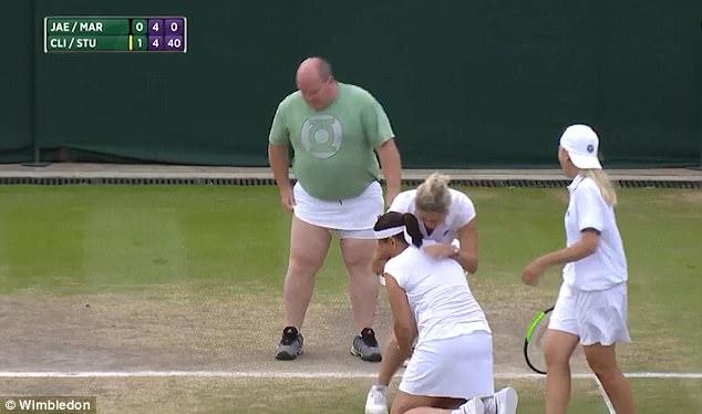 Fat Man Steals the Show at Women's Wimbledon Tournament [VIDEO]
