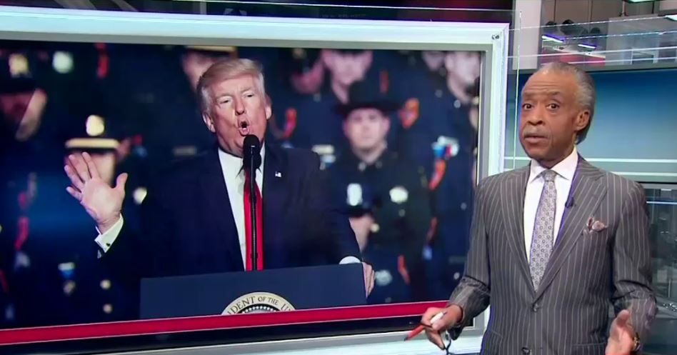 Watch: Al Sharpton Responds After Trump Triggers Him During A Speech to Police