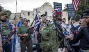 ARMED TEXANS DEFEND ALAMO MONUMENT AMID CIVIL UNREST