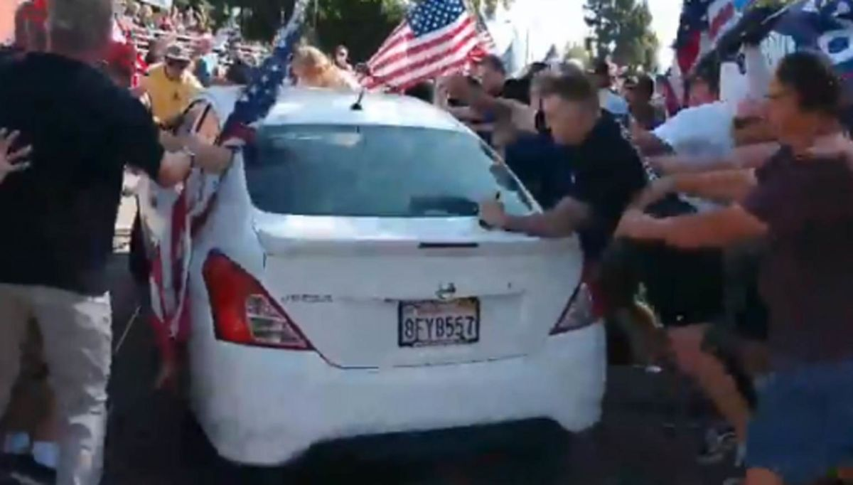 Multiple Injuries After Car Plows Through Crowd of Trump Supporters (VIDEO)