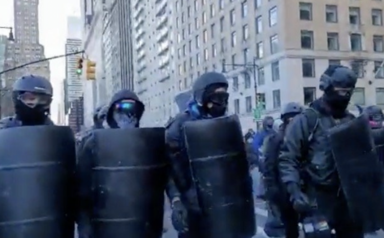 """""""Our Motherf*ckin Streets!"""" Antifa Terrorists March Through NYC in Riot Gear – Media Silent (VIDEO)"""