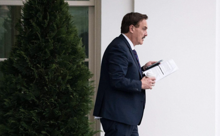 WHOA! Media Catches Pic Of Mike Lindell Leaving W.H. But It's What's In His Hands That Has Tongues Wagging
