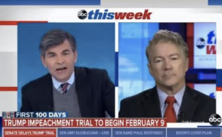 ABSOLUTE FIRE! WATCH Rand Paul DESTROY Leftist HACK George Stephanopoulos on BIG LIE