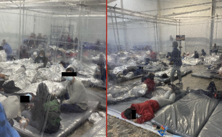 New Released Photos from Inside Biden Detention Facility Speak Louder Than Words
