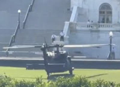 ALERT: Why Did Blackhawks Just Land At The Capitol Building?
