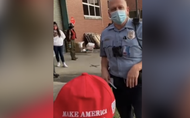 They Just Told Him He Will Be ARRESTED For Wearing A MAGA Hat!